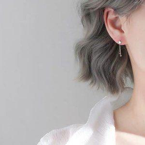NEW 925 Sterling Silver Star Tassel Earrings
